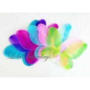 "LolaSaturdays 5 Pack Assorted Fairy Wings (12""W X 10""L)"