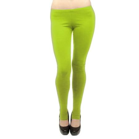 Vivian's Fashions Long Leggings - Cotton/Stirrup, Misses Size (Lime, 2X) - Authentic Pink Ladies Jacket