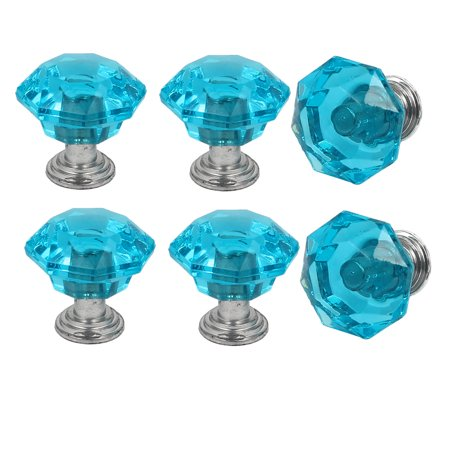 Cabinet Dresser Door Diamond Shaped Pull Handles Knob 25mmx24mm 6pcs ()