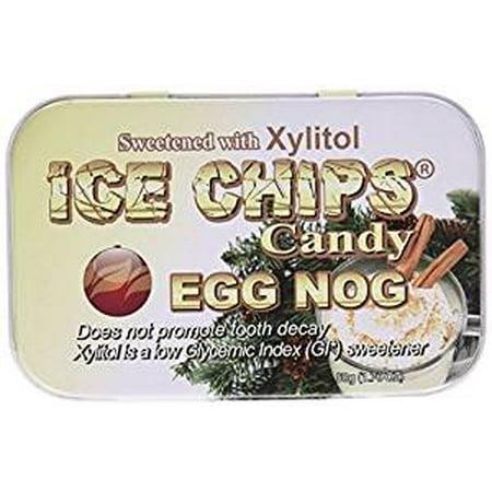 ICE CHIPS Xylitol Candy Egg Nog, 1.76 oz Tin](Halloween Eggnog)