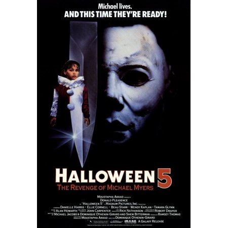 Halloween 5: The Revenge of Michael Myers (1989) 27x40 Movie Poster - Halloween The Revenge Of Michael Myers