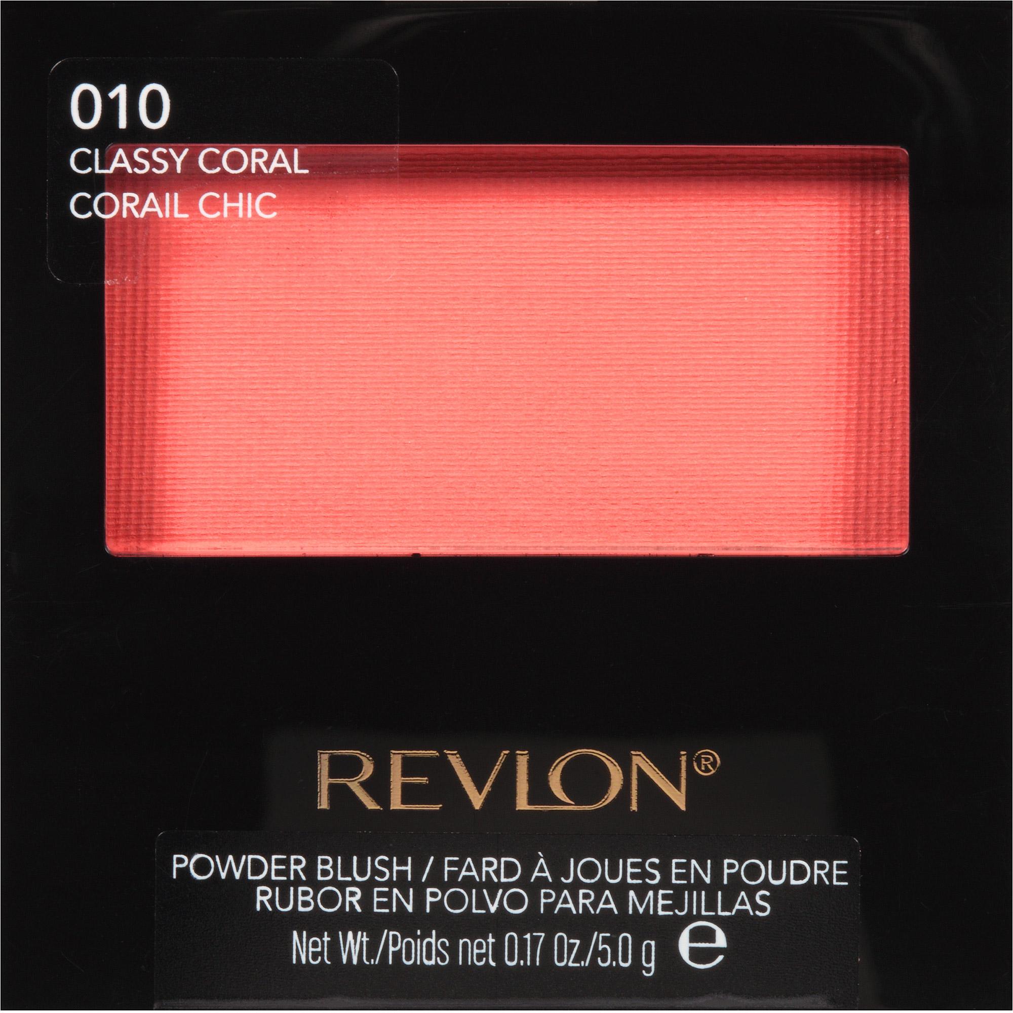 Revlon Powder Blush, 010 Classy Coral, 0.17 oz