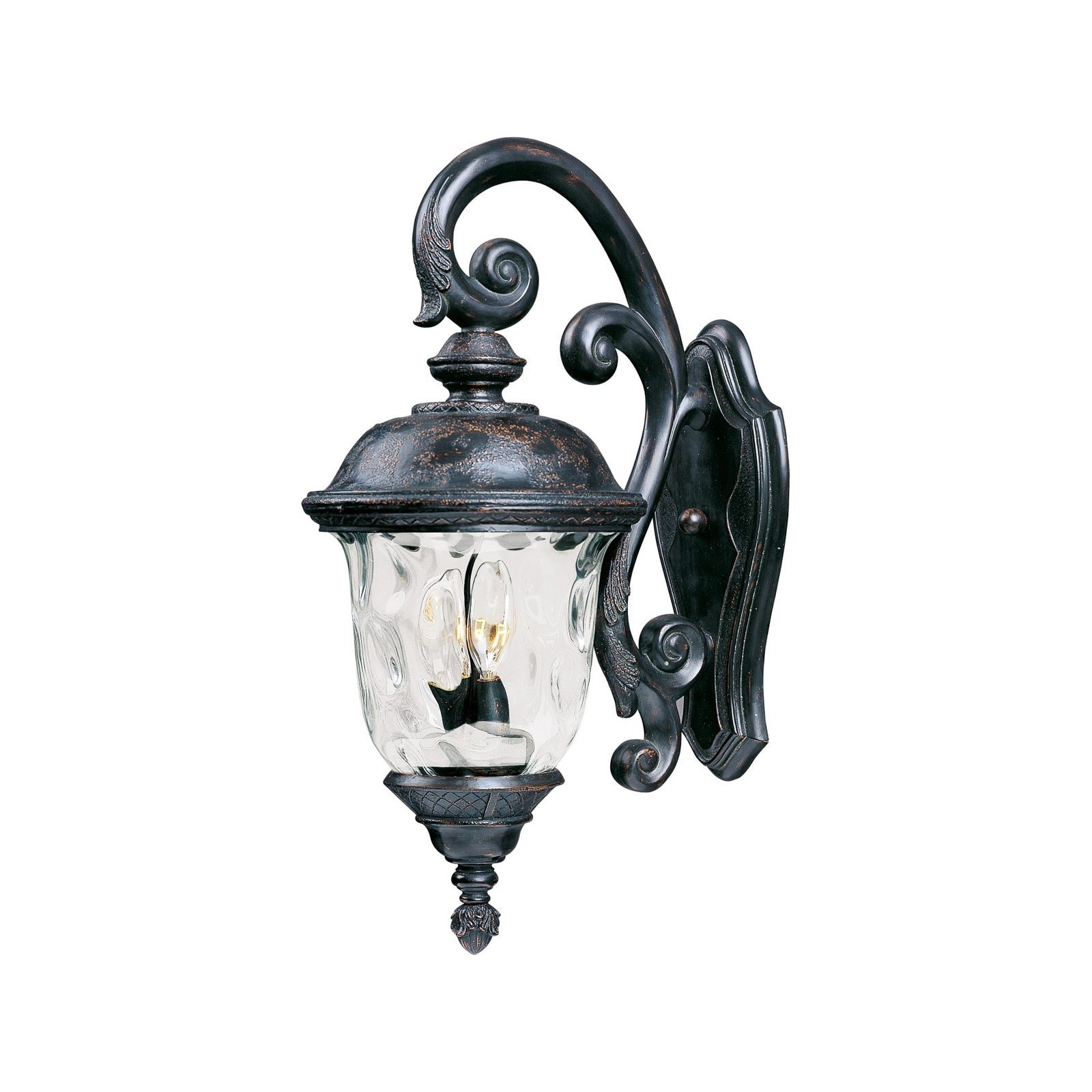 Maxim Lighting Carriage House Bronze Vivex Water Gl