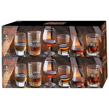 Libbey Whiskey Tasting Glasses,6 Piece Assortment Set (Pack Of 2)