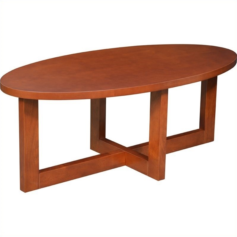 Regency Oval Veneer Coffee Table