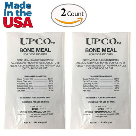 Bone Meal Steamed Powder for Dogs and Cats 2 Pack Total 2 Pounds from Upco Bone Meal Made in USA](Pound Dog)