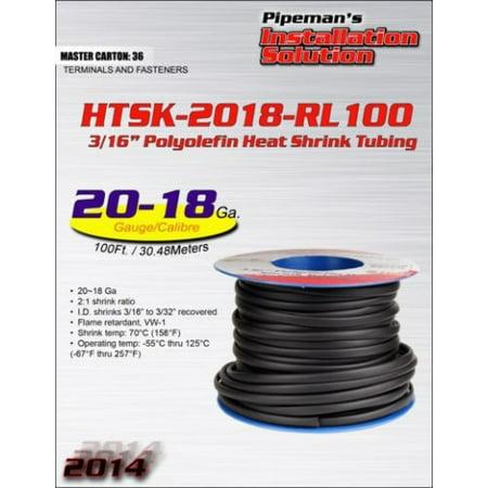 Heat Shrink Tubing 20 - 18 Ga 100 FT 3/16