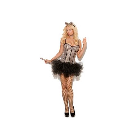 Feline FiFi Costume 9991 Elegant Moments Leopard Print/Black](Kids Snow Leopard Costume)