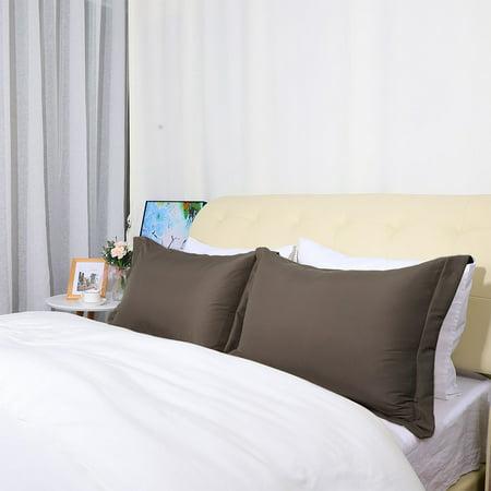 Soft 1800 Microfiber Pillow Shams Set of 2 Oxford Pillowcases 12 x 16 Inch,