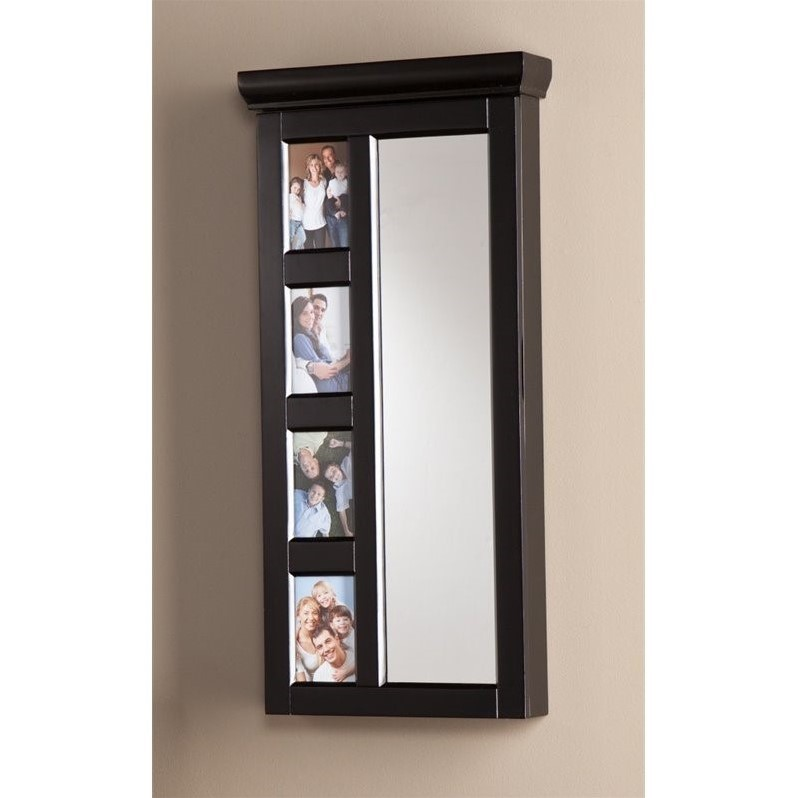 Southern Enterprises Moore Photo Jewelry Armoire in Black Walmartcom
