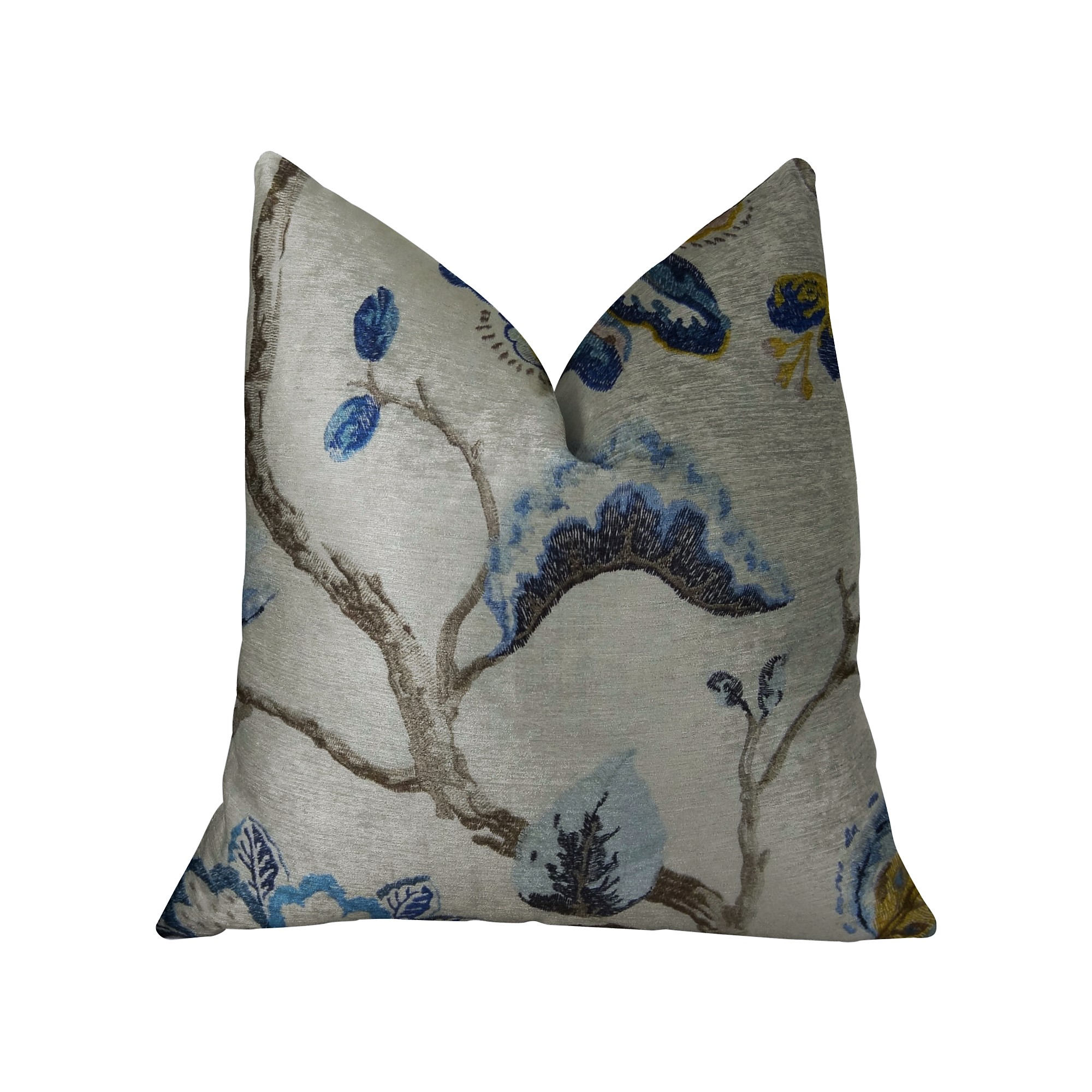 Plutus Bloom City Handmade Throw Pillow, Double Sided