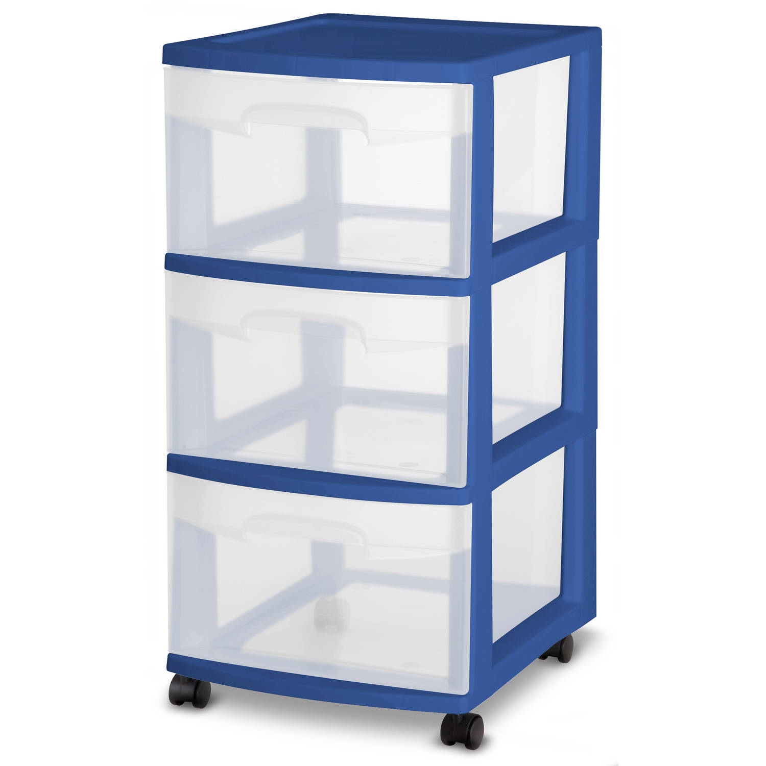 Sterilite  Drawer Cart Stadium Blue Available In Case Of  Or Single Unit