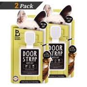 Door Buddy Adjustable Door Latch - 2 Pk. Keep Dog Out of Litter Box and Cat Food the Easy and Convenient Way.