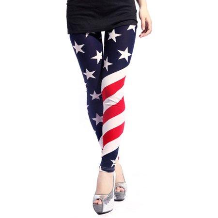 Women's Uncle Sam American United State Flag Print -