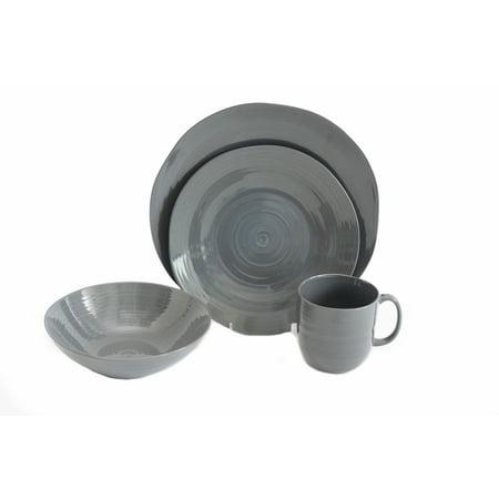 Baum Pool Free Form Edged 16-piece Dinnerware Set, Grey - Walmart.com
