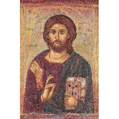 Thea Gouverneur Counted Cross-Stitch Kit, Icon Christ Pantokrator