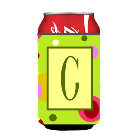 Letter C Initial Monogram - Maroon And White Can Or Bottle  Hugger - image 1 de 1