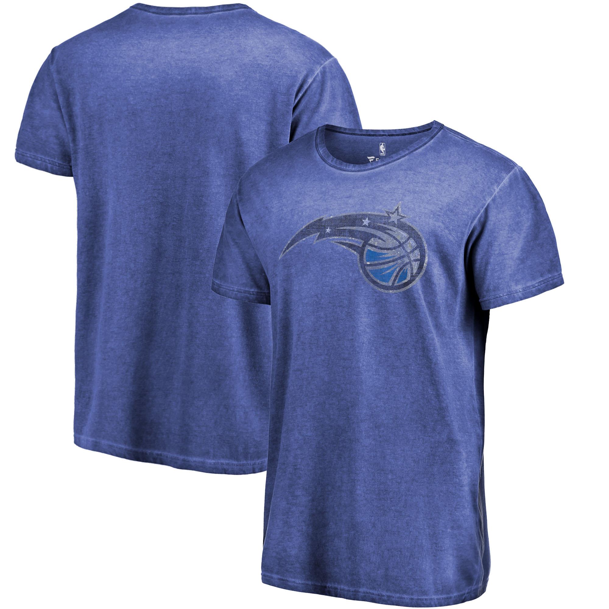 Orlando Magic Fanatics Branded Shadow Washed Logo T-Shirt - Royal