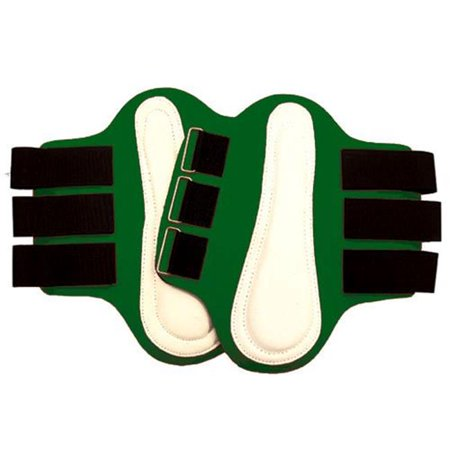 Large Splint Boots with White Leather Patches, Red - Intrepid International 245894
