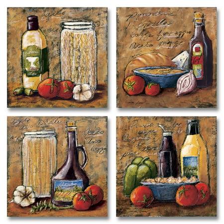4 Rustic Italian Kitchen Set; Four 12X12 Poster (Rustic Italian)