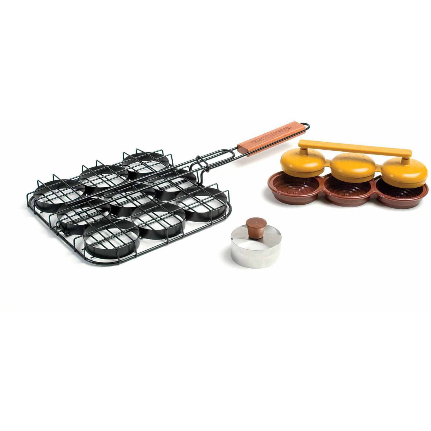 Charcoal Companion Deluxe Mini-Burger Sliders Grill and BBQ Set, CC3072