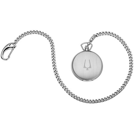Bulova Men's Classic Stainless Steel Pocket Watch Sterling Silver Pocket Watches