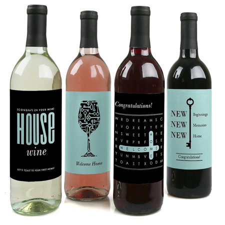 Home Sweet Home - Party Decorations for Women and Men - Wine Bottle Label Stickers - Set of - Poison Bottle Labels Halloween