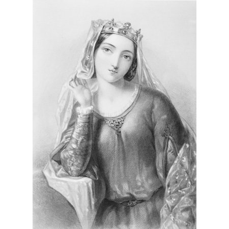 Isabella Of Angouleme1188-1246 Queen Of King John Of England Engraved By B Eyles After A Bonvier From The Book The Queens Of England Volume I By Sydney Wilmot Published London Circa 1890 Stretched