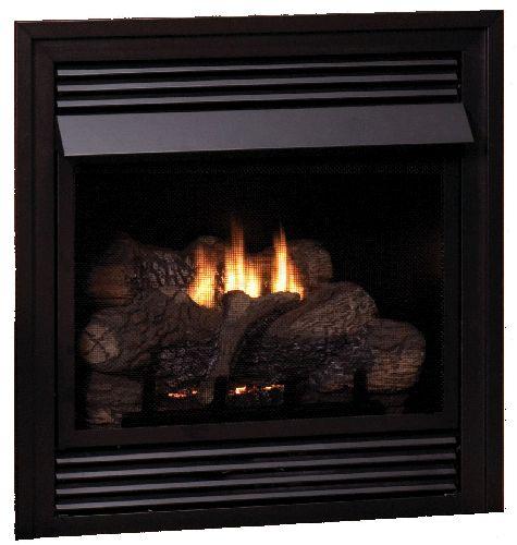 Vail Vent-Free LP Premium 32,000 BTU Fireplace with Log Set