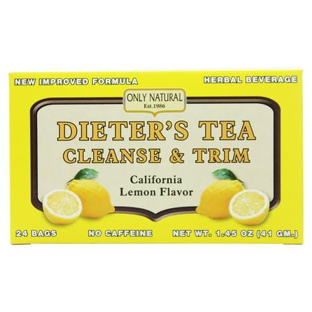 Only Natural - Dieter's Tea Cleanse & Trim California Lemon Flavor - 24 Tea Bags - Tea Favors
