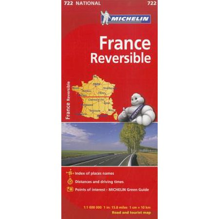 Michelin France Reversible Road and Tourist Map - Folded Map ()
