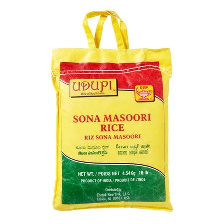 Udupi Sona Masoori Rice, 10 Lb (Best Sona Masoori Rice In Usa)