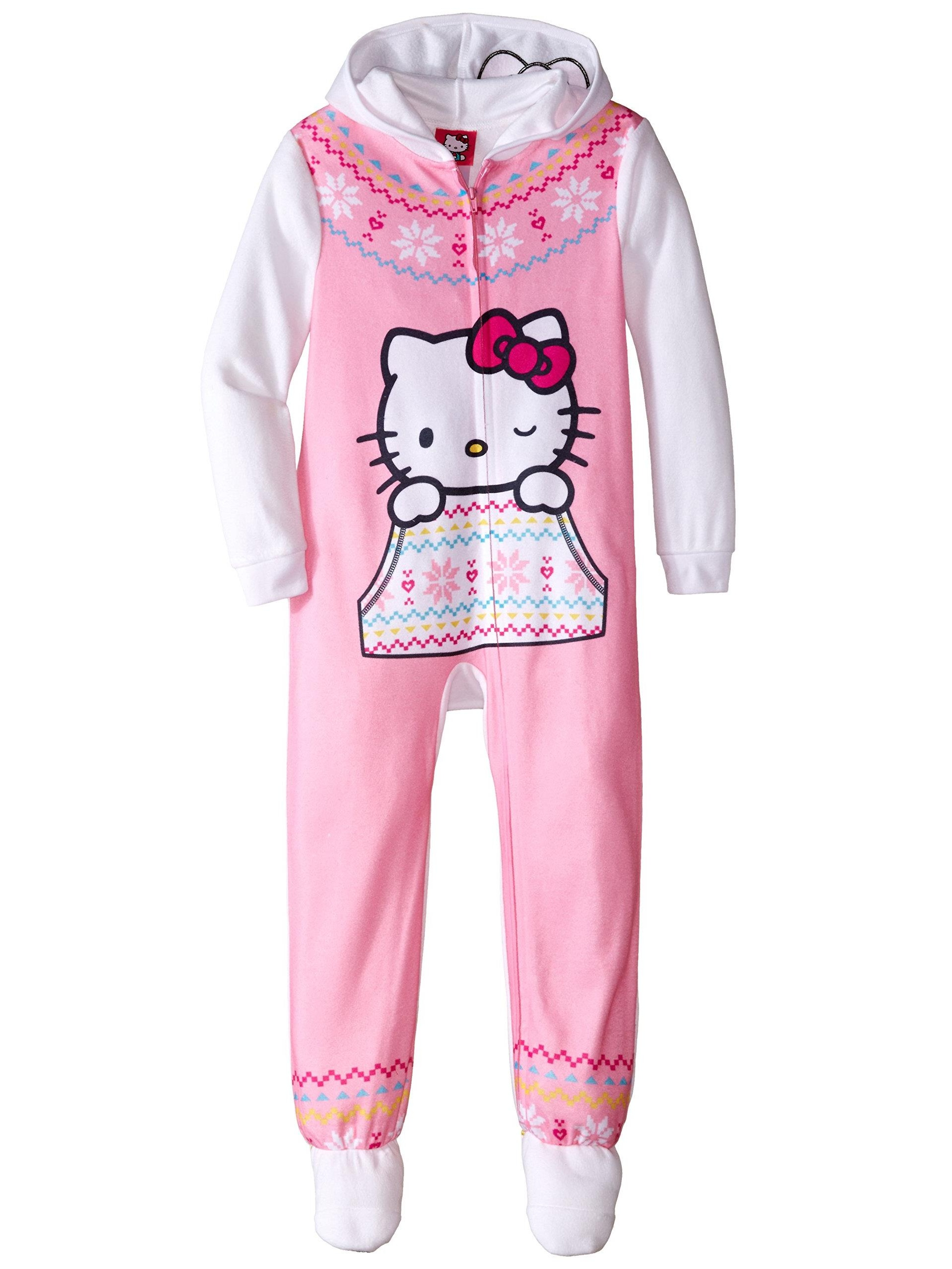 Girls' Hooded Fleece Blanket Sleeper Pajama, Sizes 4-10