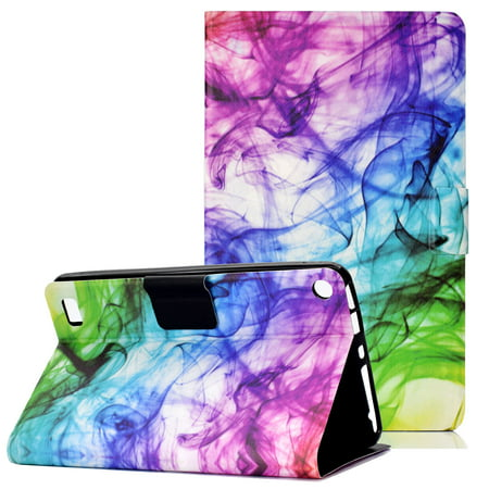 Fire 7 Case 2015, Fire 7 Case 2017, Allytech Ultra Slim Folio Multi Angle Stand Full Protective Shockproof Girls Kids Cute Case Cover for Amazon Kindle Fire 7 7th 5th - Amazon Infinity Mist
