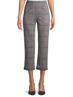 Happening in the Present Juniors' Plaid Cropped Pants