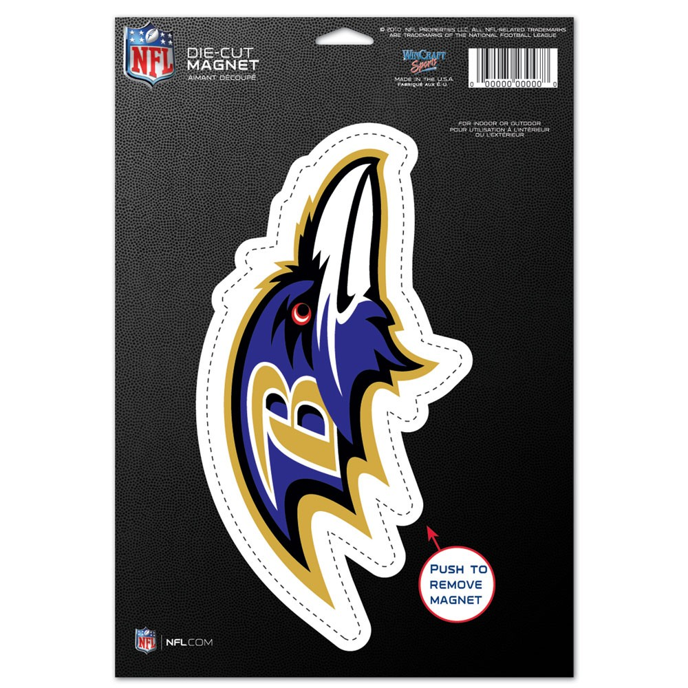 Baltimore Ravens Official NFL 6 inch x 9 inch  Car Magnet by Wincraft
