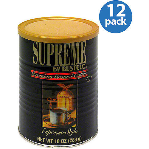 Supreme by Bustelo Espresso Style Premium Ground Coffee, 10 oz, (Pack of 12)