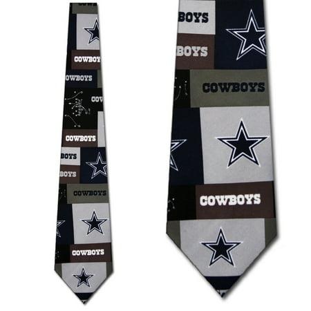 Dallas Cowboys Tie Block Pattern Necktie Mens NFL