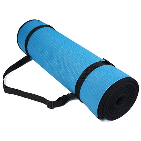 BalanceFrom All-Purpose 2/5-Inch Extra Thick High Density Anti-Slip Exercise Pilates Yoga Mat with Carrying