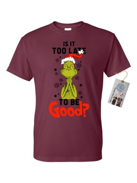 9c70d799 Product Image Is It To Late To Be Good Grinch Christmas Mens Short Sleeve  Shirt