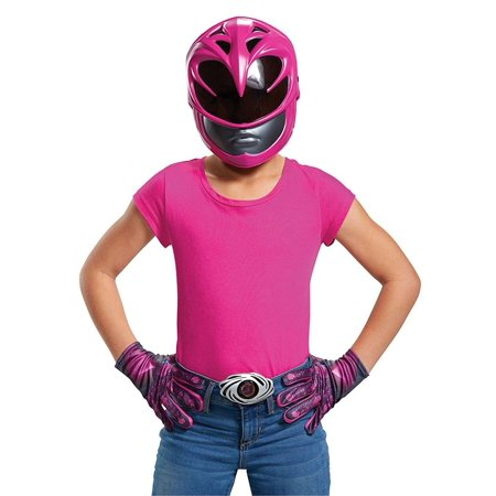 Too Soon Halloween Costumes 2017 (Pink Ranger 2017 Accessory Kit Girls Child Halloween Costume, One)