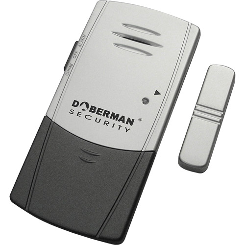 DOBERMAN SECURITY Door & Window Alarm - Unique Ultra-Slim Design Fits Sliding Windows - Loud 100dB Alarm OR Chime - Features Long Battery Life + Dual Trigger Technology - Perfect for Home, Office, Gar