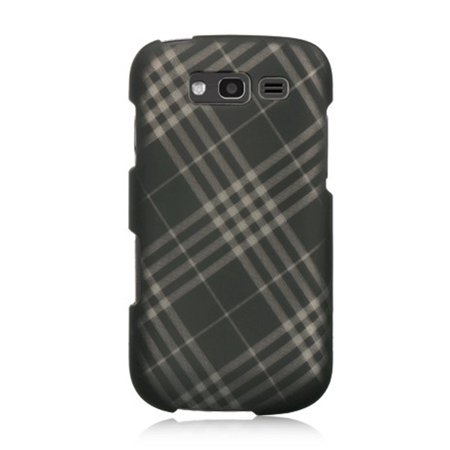 Insten Checker Rubber Coated Hard Snap-in Case Cover For Samsung Galaxy S Blaze 4G SGH-T769 (T-Mobile), (Gray Checkered Snap)