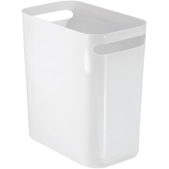 Interdesign 56940 12 in. Una Can, White - image 1 de 1