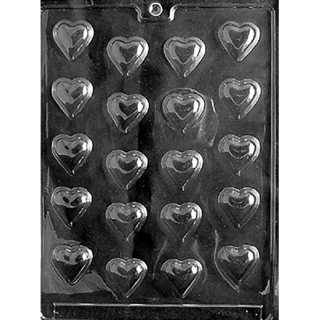 Grandmama's Goodies V001 B/S Hearts Valentine's Day Wedding Shower Chocolate Candy Soap Mold with Exclusive Molding Instructions ()
