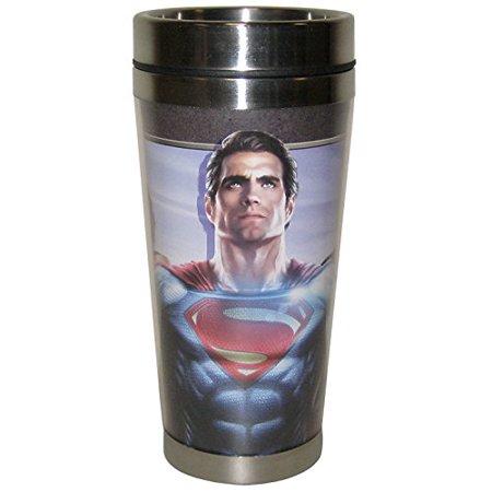 Westland Giftware Batman Vs Superman Together We Fight Stainless Steel & Acrylic Travel Mug, 15 oz, Multicolor (Westland Shopping Mall)