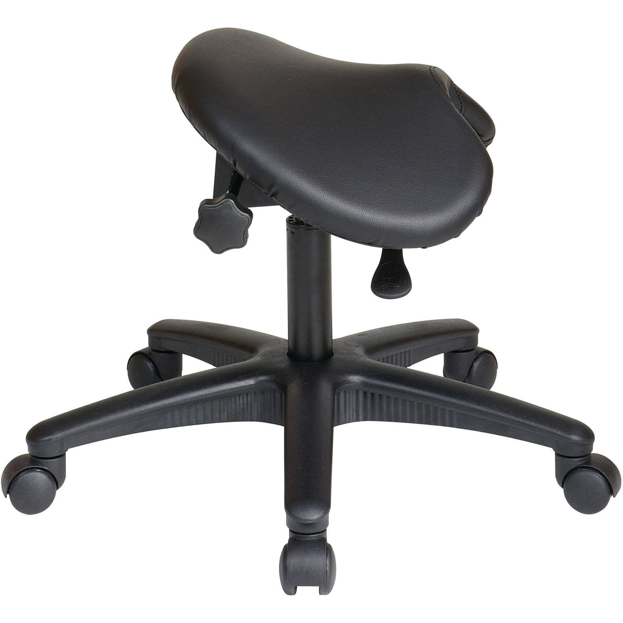 fice Star Work Smart Backless Saddle Seat fice Chair White