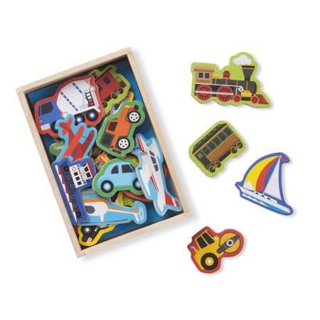 Melissa & Doug Wooden Magnets – Vehicles