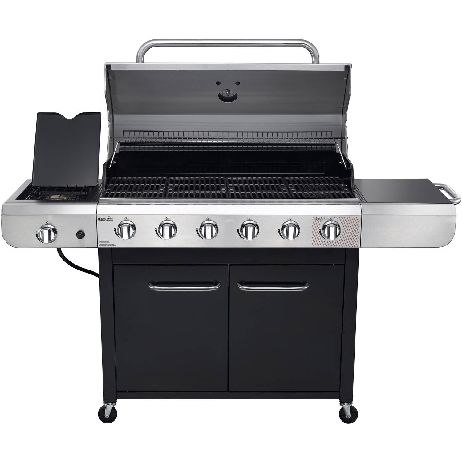 Char Broil Convective 6 Burner Grill Stainless Steel Black