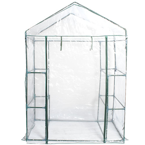 Costway Portable Mini Walk In Outdoor 3 Tier 6 Shelves Greenhouse